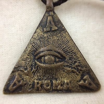 Vintage PHILIPPINE FILIPINO Amulet ANTING ANTING ROMA All-Seeing Eye Protection