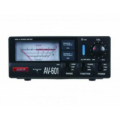 Avair AV601 VSWR + Power Meter 1.8MHz to 525MHz VHF UHF HAM Amateur Radio
