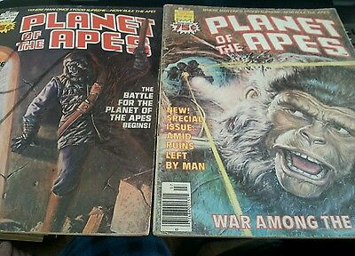 Lot of 2 Planet of the Apes # 22 +23 ( July Aug 1976, Marvel)