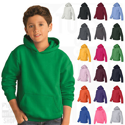 Gildan Youth Heavy Blend Hooded Hoodie Fleece Pullover Sweatshirt S-XL - 18500B