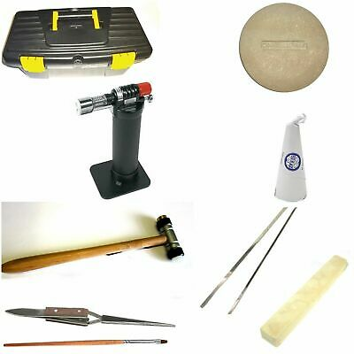 Jewellers Starter Kit for soldering jewellery Brand includes torch, Flux dish, F