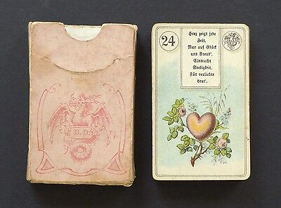 Antique 1911 Dondorf #2 Lenormand Fortune Telling Cards White Dragon