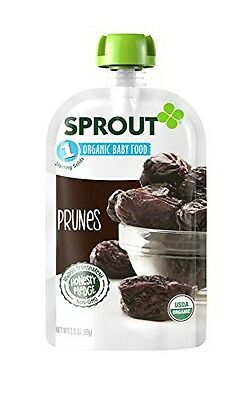 Sprout Organic Baby Food Stage 1 Pouches, Prune, 3.5 Ounce (Pack of 6)