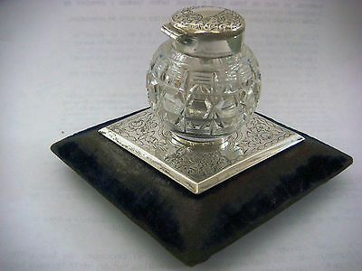 Vintage Sterling Silver Inkwell
