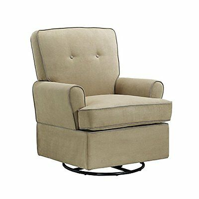 Baby Relax The Tinsley Nursery Swivel Glider Chair, Beige