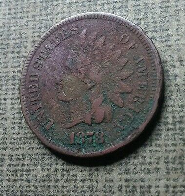 1878 Indian Head Penny Cent