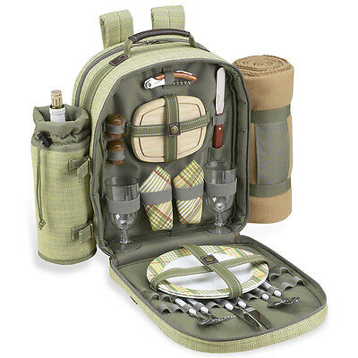 Picnic at Ascot Hamptons Backpack for 2 with Blanket (080X-H)