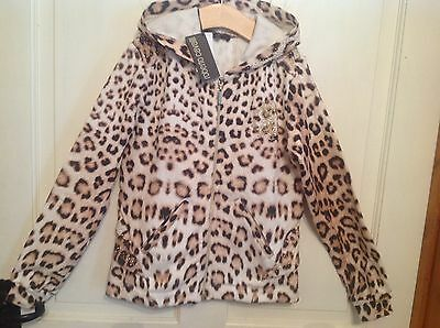 Roberto Cavali girls leopard print Summer zip up age 8-New with tags!