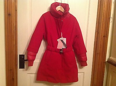 Monnalisa LIMITED EDITION red 3 in 1 winter Xmas coat age 10- Amazing item!