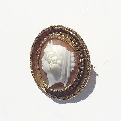 Antique Cameo Victorian Cameo Georgian Carved Hardstone Gold Frame