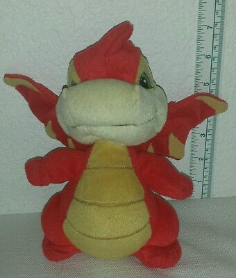 """7"""" Neopets Red Dragon Plush Red Scorchio 2002 by snap! toys"""