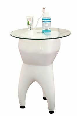 Dental furniture & decoration table tooth shape Made of fiberglass&glass surface