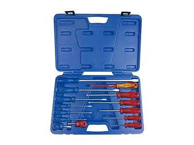 KING TONY 14 PC. Standard & Insulated Screwdriver Set Made in Taiwan 35114MR