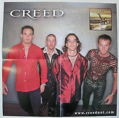 Original 1999 Creed Human Clay Double Sided Poster Windup Entertainment