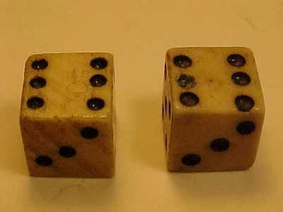 Old 1765 Revolutionary Colonial Tax Stamp Bone Dice 10mm GR King George Rex Duty