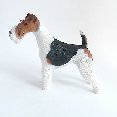 Wire Fox Terrier Vintage North Light Dog Figurine made in England.