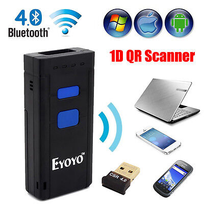 Bluetooth V4.0 CCD Scan Tool 2D QR Reader / Scanner For Apple iPhone Android Win