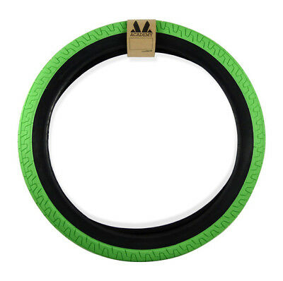"""Academy 617 BMX Tyre 20 x 2.25"""" Bright Green with Black Wall Tire"""