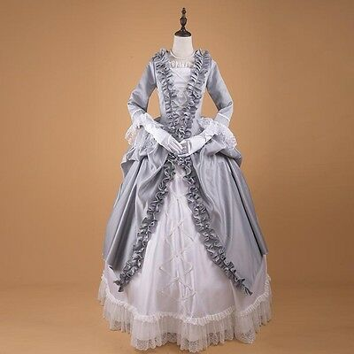 Ladies Victorian Renaissance Baroness Costume Ball gown Fancy Masquerade Dress ^