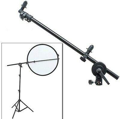 "Studio Pro Photo Holder Bracket Swivel Head Reflector Disc Arm Clamp 26""-69"""