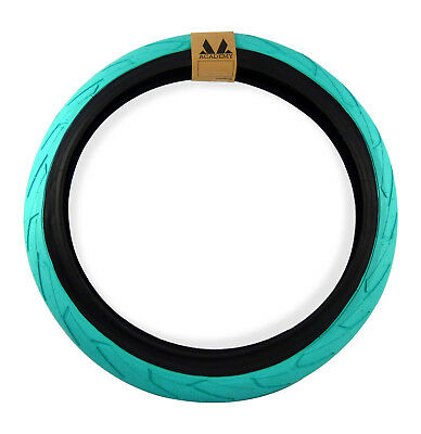 """Academy 633 Fat BMX Tyre 20 x 2.4"""" Teal with Black Wall"""