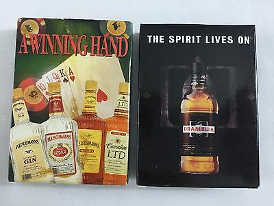 Lot DRAMBUIE And Fleischmann's Liquor Promotional Playing Cards Man Cave