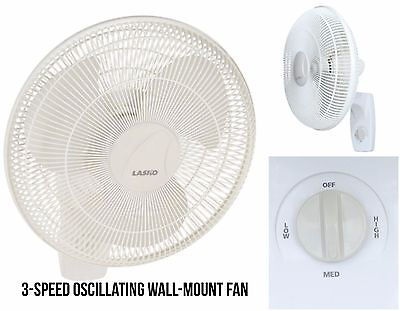 New 3-Speed Oscillating Indoor 16 inch High Velocity Wall-Mount Fan