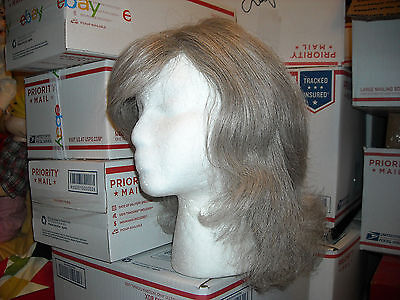 """Halloween tags gone synthetic hair wig  free fast shipping silver brown pepp 22"""""""