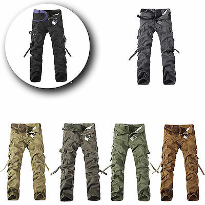 Army Cargo Camo Combat Military Mens Trousers Camouflage Pants Casual Uk32-42