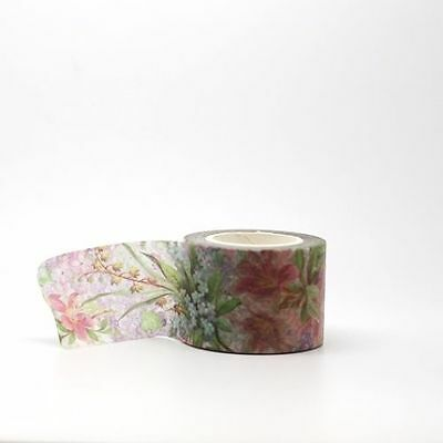 Washi Tape - Lilly Floral 30mm x 10m  Bright Summer Flower Design
