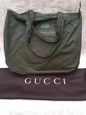 BNWT Authentic Gucci Viaggio Leather Duffle Bag Olive Green Special Edition f604d639c45a1