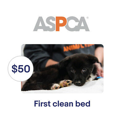 ASPCA $50 Their First Clean Bed Symbolic Charitable Donation