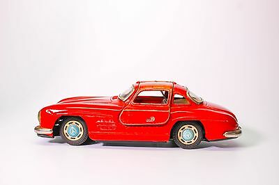 Vintage Mercedes 300Sl Gullwing Japanese Tin Friction Car