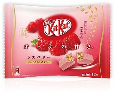 Nestle Kit Kat Mini Chocolate Raspberry Limited Flavor 12 Bar F/S Japan