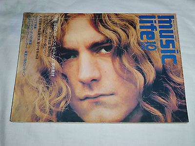 MUSIC LIFE Japan magazine 10/1970 ! ROBERT PLANT Beatles Stones Jimi Hendrix Yar