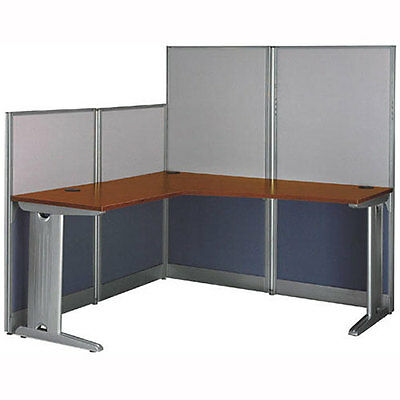 OFFICE PANEL WORKSTATION SYSTEM Desk Cubicle Partitions L-Shaped Work Room NEW