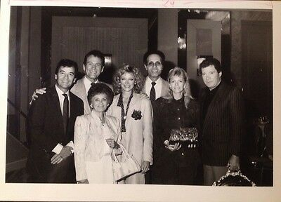William Shatner, Dick Clark, Extremely RARE CANDID 5X7 B&W PHOTO MUST SEE