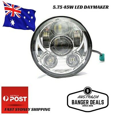 "Chrome Motorcycle 5.75"" 5-3/4'' Headlight Daymaker LED For Harley Davidson"