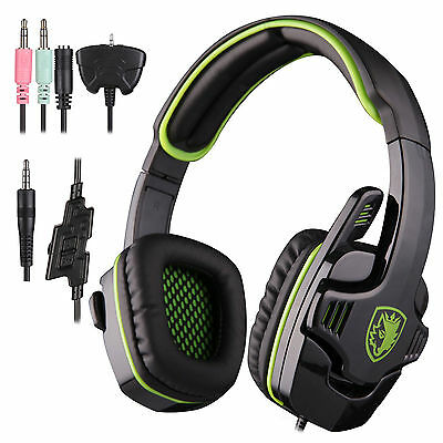 Sades 3.5mm Pro Gaming Headset  headphone w/mic for  PS4 XBOX 360 PC