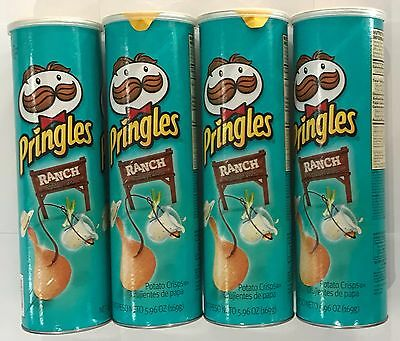 903303 4 x 169g CONTAINERS OF PRINGLES - RANCH FLAVORED POTATO CRISPS! - U.S.A.
