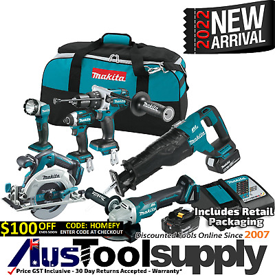 Makita Lxt 18V 5Ah Lithium Ion Cordless 6 Tool Combo Kit Lxt601 2017