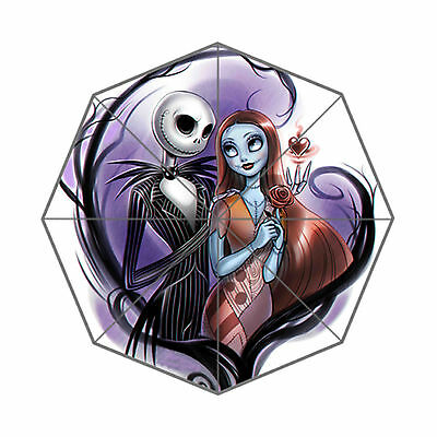 nightmare before christmas jack and sally Foldable Wind Resistant Umbrella