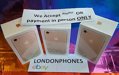 ☆SEALED☆APPLE iPHONE 7 128GB BLACK FACTORY UNLOCKED MOBILE PHONE UK SPEC✔☆NEW☆