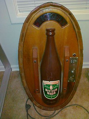 Rare -  Southwark Bitter Beer - Beer Ticket Machine - wood, metal, plastic