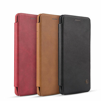 Luxury Slim Leather Flip Cover Card Wallet Back Case For Samsung Galaxy S7 Edge