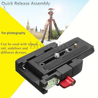 Camera Quick Release Clamp Adapter With Slide Plate For DSLR Tripod Ball Head