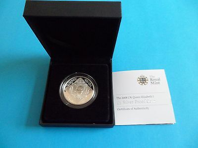 2008 Silver Proof £5 Pound Coin - Queen Elizabeth I With Coa & Box