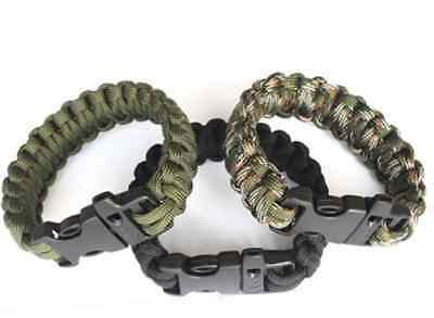 Paracord Parachute Cord Emergency Survival Bracelet Rope with Whistle Buckle