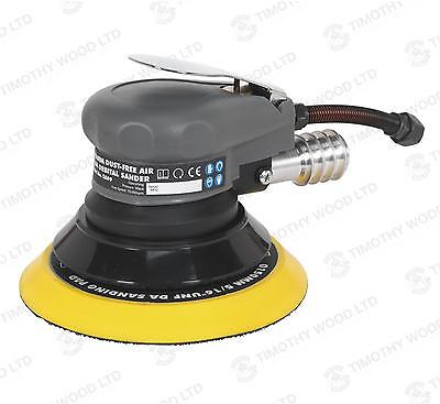 Sealey Air Palm Orbital Sander Cleaning Sanding Cleaner Dust-Free Outlet 150mm