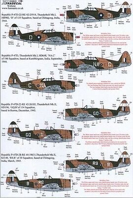 Xtradecal 1/48 P-47D Thunderbolt in RAF/SEAC Service # 48115